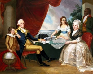 George Washington And His Family by Edward Savage