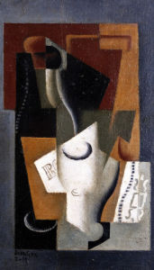 Bottle And Glass by Juan Gris