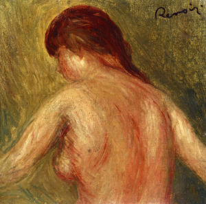 Nude Female Torso, From The Back by Pierre Auguste Renoir