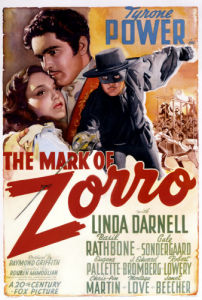 The Mark Of Zorro, 1940 by US Movie Poster