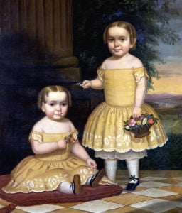 Portrait Of Lavinia And Ella Simpson by Lavinia Scholes Simpson