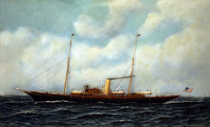 Steamship Riviera by Antonio Jacobsen