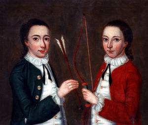 Portrait Of Two Young Boys by American School