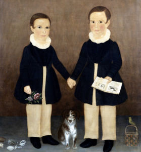 Joseph And Edwin With Their Pets by American School