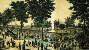 A View Of The Water Celebration On Boston Common October 25th, 1848 by Tappan & Bradfords