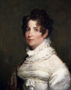 Portrait Of Miss Clementina Beach by Gilbert Stuart