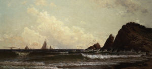 Cliffs At Cape Elizabeth, Portland Harbor, Maine by Alfred Thompson Bricher