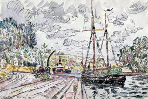 Paysage A Pontrieux by Paul Signac