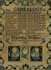 A Needlework Sampler by Martha Wilder