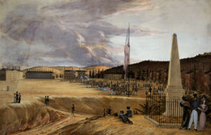 West Point With Drill by George Catlin