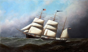 The Three Masted Barque, 'Ceres' by Antonio Jacobsen