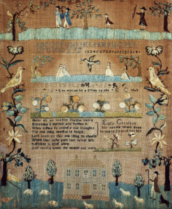 A Fine Needlework Sampler by Eliza Cranston