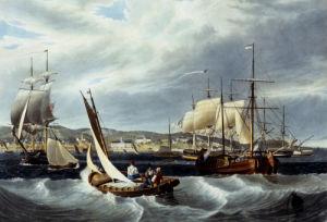 View Of New York Quarantine, Staten Island by William James Bennett