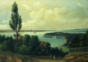 View Of New York From New Jersey by American School