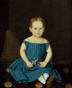 Portrait Of A Little Girl by American School