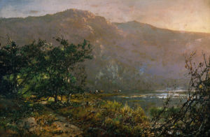 Gathering At Sundown by William Louis Sonntag