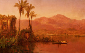 River Scene, Ecuador by Louis Remy Mignot