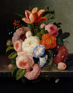 Still Life With Flowers by Severin Roesen