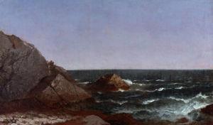 Rocks Near Newport by John Frederick Kensett