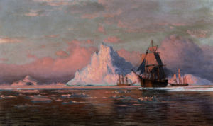 Whalers Off The Coast Of Labrador by William Bradford