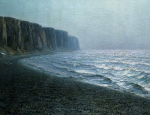 Cliffs, Treport by Alexander Harrison