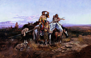 Squaws Moving Camp by Charles Marion Russell