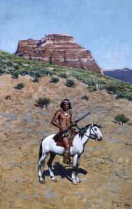 Apache Warrior by Henry F. Farny