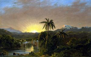 Sunset In Ecuador by Josef Borsos