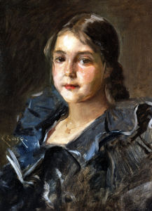 Portrait Of Helen Velasquez Chase by William Merritt Chase