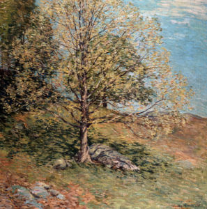Budding Oak by Willard Leroy Metcalf