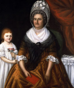 Mrs John Moale (Ellin North) And Ellin North Moale by Joshua Johnson
