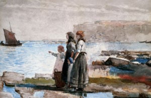 Waiting For The Return Of The Fishing Fleets by Winslow Homer