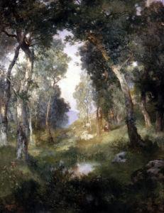 Forest Glade, Santa Barbara by Thomas Moran