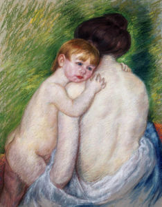 The Bare Back by Mary Cassatt