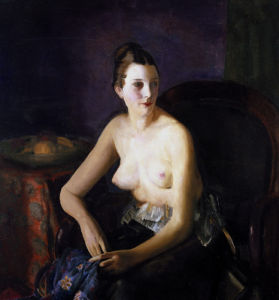 Seated Semi-Nude by George Wesley Bellows