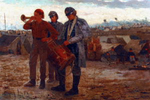Sounding Reveille by Winslow Homer