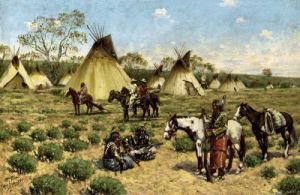 Sioux Encampment, Porcupine by John Hauser