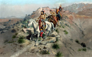 On The Warpath by Charles Marion Russell