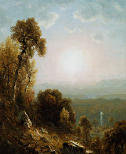 Sunset In The Adirondacks by Sanford Robinson Gifford