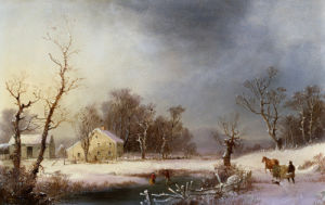A New England Winter by George Henry Durrie