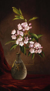 Laurel Blossoms In A Vase by Martin Johnson Heade