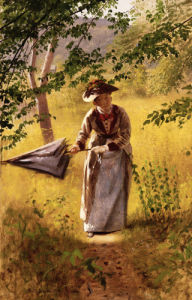 Lady With A Parasol by John George Brown