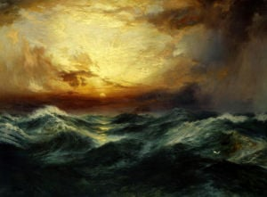 Sunset After A Storm by Thomas Moran