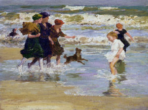 Splashing by Edward Henry Potthast