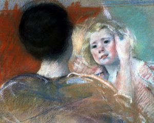 Mother Combing Sara's Hair by Mary Cassatt