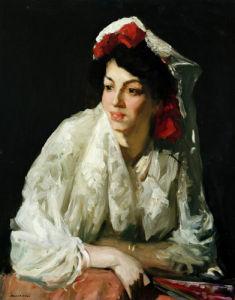 Spanish Mantilla by Robert Henri