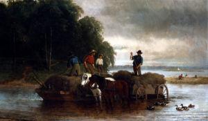 Gathering Sedge, Shrewsbury River, New Jersey by William Hahn