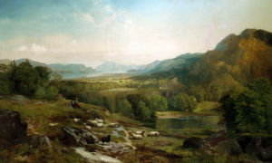 Minding The Flock by Thomas Moran