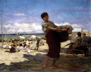 On The Beach by Edwin Howland Blashfield