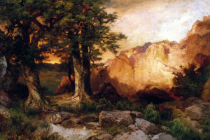 Western Sunset by Thomas Moran
